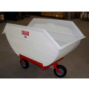 Poly-Tuf® 20 Bushel 3 Wheel Polyethylene Nursery Cart P20-3WI