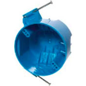 "Carlon® B520A-UPC, Outlet Box, Ceiling/Fixture, 4"" Dia., Round, Blue, 75 Pack - Pkg Qty 75"