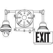 Emergi-Lite 1EXC7-1HG-TS1R Explosion Proof Combination Unit - 12V 72W w/ 1X12W Halogen Head 1 Exit