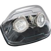 Emergi-Lite EF39D(LA)-BK Nema 4x Remote Fixture, 6V, 2- 4W LED MR16 Lamp Heads, Black Back Plate