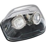 Emergi-Lite EF39D(LG)-BK Nema 4x Remote Fixture, 12V, 2- 4W LED MR16 Lamp Heads, Black Back Plate