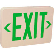 Emergi-Lite ELX400GN Thermoplastic Exit Sign - Ac-Only Green Led'S