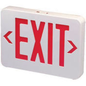 Emergi-Lite ELXN400R-N Thermoplastic Exit Sign - Red LED, AC & Battery Backup