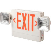 Emergi-Lite ELXN400R-2SQLR-AD LED Thermoplastic Combo Unit - White/Red w/ Diagnostics 12W Remote