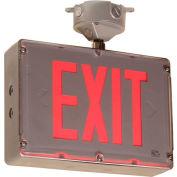 Emergi-Lite GGSVXH12HRD Class 1 Division 2 Exit Sign /w Remote Capacity - 12V 40W Nimh Battery