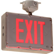 Emergi-Lite GGSVXHZ1R Class 1 Division 2 Exit Sign - Exit AC-Only, Red Led Single Face