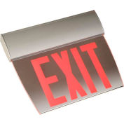 Emergi-Lite TAPE2RM Double-Face Economy Edge-Lit Exit Sign - Ac-Only Red