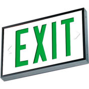 Emergi-Lite WSLX-2061G-N Everlite Tritium Exit Sign - 20 Year Single Face Green