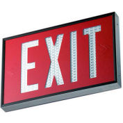 Emergi-Lite WSLX-2061R-N Everlite Tritium Exit Sign - 20 Year Single Face Red