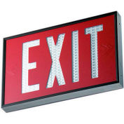 Emergi-Lite WSLX-2062R-N Everlite Tritium Exit Sign - 20 Year Double Face Red