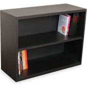 "Ensemble Two Shelf Bookcase, 36""W x 14D x 27H - Dark Neutral"