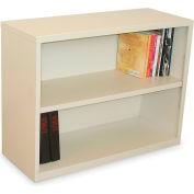 """Ensemble Two Shelf Bookcase, 36""""W x 14D x 27H -Putty Finish"""