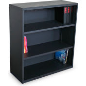 "Ensemble Three Shelf Bookcase, 36""W x 14""D x 40""H - Dark Neutral"