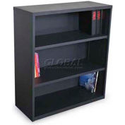 "Ensemble Three Shelf Bookcase, 36""W x 14D x 27H - Dark Neutral"
