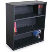 """Ensemble Three Shelf Bookcase, 36""""W x 14D x 27H - Dark Neutral"""