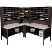 Marvel® - 84 Slot Corner Literature Organizer - Black