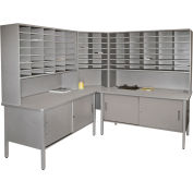 Marvel® - 84 Slot Corner Literature Organizer with Cabinet - Slate Gray