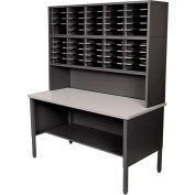 Marvel® - 50 Slot Literature Organizer with Riser - Black
