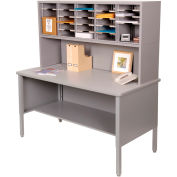 Marvel® - 25 Slot Literature Organizer with Riser - Slate Gray