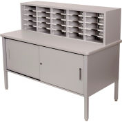 Marvel® - 25 Slot Literature Organizer with Cabinet - Slate Gray