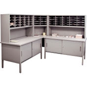 Marvel® - 60 Slot Literature Organizer with Riser & Cabinet - Slate Gray
