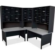 "Marvel® 100 Slot Mailroom Organizer, Riser, 84""H x 78""W, Black"