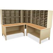 "Marvel® 100 Slot Mailroom Organizer, 2 Storage Shelves, 66""H x 78""W, Putty"