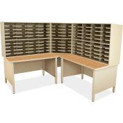 "Marvel® 100 Slot Mailroom Organizer, 66""H x 78""W, Putty"