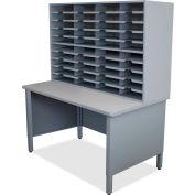 "Marvel® 40 Slot Mailroom Organizer, 72""H x 48""W, Slate Gray"
