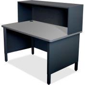 "Marvel® Mailroom Utility Table, Riser, 52""H x 48""W, Black"
