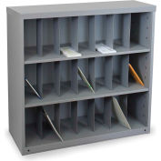 """Marvel® Vertical Sorter with 21 Pockets, 40""""H x 48""""W, Slate Gray"""