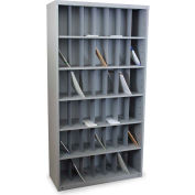 """Marvel® Vertical Sorter with 42 Pockets, 80""""H x 48""""W, Slate Gray"""
