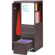 Marvel® Ensemble Personal Storage Binder Tower with Left Closet, Dark Neutral