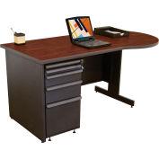 "Marvel® Teachers Desk  - 60""W x 30""D - Dark Neutral/Mahogany"