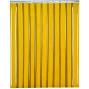 """Global Industrial™ Welding Strip Door - 4'W x 8'H - 8"""" Amber Tint PVC"""