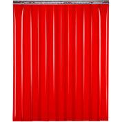 """Global Industrial™ Welding Strip Door - 10'W x 8'H - 8"""" Red Tint PVC"""