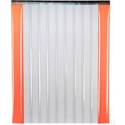 "TMI Low Temperature Strip Door SD11-8-4X8 - 4'W x 8'H - 8"" Smooth Clear PVC"
