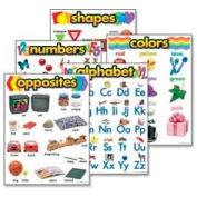 "Trend® Kindergarten Basic Skills Learning Charts, 17"" x 22"", 5 Charts/Pack"