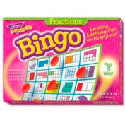 Trend® Fractions Bingo Game, Age 10 & Up, 3 to 36 Players, 1 Box