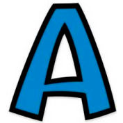 "Trend® 4"" Playful Combo Ready Letters, Blue, 1 Set"