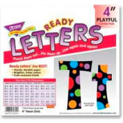 "Trend® 4"" Playful Combo Ready Letters, Neon Dots, 1 Set"