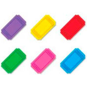 "Trend® Winning Tickets Mini Accents Variety Pack, 3"" High, 6 Colors, 72 Pcs/Pack"