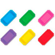 "Trend® Winning Tickets Classic Accents Variety Pack, 5-1/2"" High, 6 Colors, 72 Pcs/Pack"