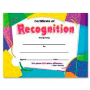 "Trend® Certificate Of Recognition, Ready-To-Frame, 8-1/2"" x 25"", 30/Pack"
