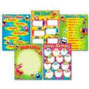 TREND® Learning Chart Combo Pack, Frog-tastic Classroom Basics, 17w x 22, 5/Pack