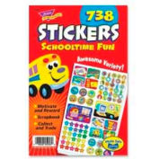 "Trend® Schooltime Fun Sticker Pad, 5-3/4"" x 9-1/2"", 738 Stickers/Pack"
