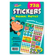 "Trend® Animal Antics Sticker Pad, 5-3/4"" x 9-1/2"", 738 Stickers/Pack"