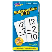 "Trend® Math Subtraction 0-12 Flash Cards, 3"" x 6"", 91 Cards/Box"