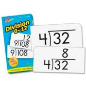 "Trend® Math Division 0-12 Flash Cards, 3"" x 6"", 91 Cards/Box"