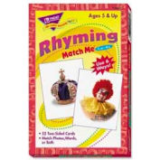 "Trend® Rhyming Match Me® Cards, 3"" x 4"", 52 Cards/Box"